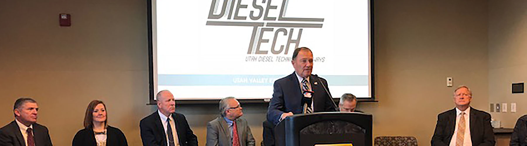 The Governor Announces the Diesel Tech Partnership in Utah County